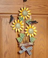 image is loading harvest autumn metal sunflower wall art crows checkered  on sunflower wall art metal with harvest autumn metal sunflower wall art crows checkered welcome wall