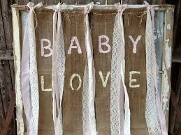 Baby Love Burlap Banner For Babys Room Country Shabby Baby Shower Baby Shower Burlap Banner