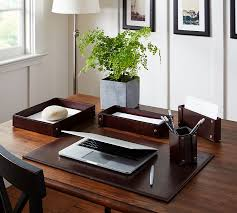 office desk accessories ideas. Desk Decoration Idea #1: Leather Accessories Office Ideas 0