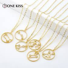 Us 1 14 50 Off Twelve Constellation Chart Rhinestone Round Pendant For Women Horoscope Astrology Galaxy Sign 12 Star Necklaces Wedding Gift In