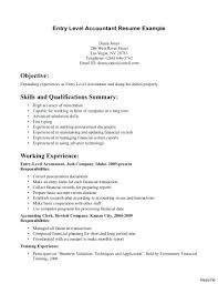 Bookkeeping Resume Resume Entry Level Bookkeeping Resume Junior Bookkeeper