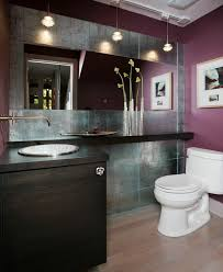 bathroom cabinets colors. Deep, Dark Colors Are Prominent In This Bathroom, As Even The Light Hardwood Floor Bathroom Cabinets O