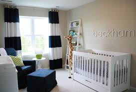 White And Blue Blue Nursery Curtains