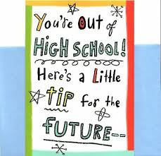 Funny High School Graduation Tip For Graduate Greeting Card By Hallmark Ebay