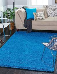 cozy collection solid turquoise rug 7 x 10 contemporary area