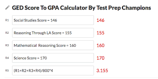 Ged Test Score To Gpa Calculator Test Prep Champions