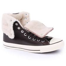 converse knee high tops. converse all star as knee hi top womens leather trainers dark brown new 3 uk high tops