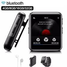 Mini klip MP3 çalar bluetooth ile 1.54 inç dokunmatik ekran taşınabilir MP3 müzik  çalar HiFi Metal ses çalar FM koşu için|MP3 Player