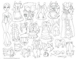 Coloring Pages Paper Dolls Paper Doll Coloring Pages Coloring Pages