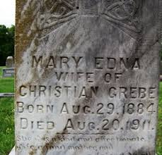 Mary Edna Rhodes Grebe (1884-1911) - Find A Grave Memorial