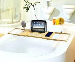 lovely polished nickel bathtub caddy on over the teak design bath target