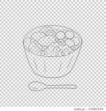 あんみつ 鉛筆主線 背景透過のイラスト素材 53880394 Pixta