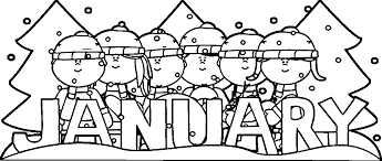 Small Picture Free Coloring Pages For January Coloring Coloring Pages