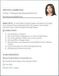 Resume In English Beauteous Ideas Of Job Application Format In English Pdf Sessional Worker