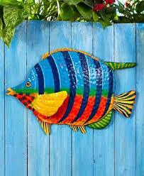 doitool 3pcs metal fish wall decor
