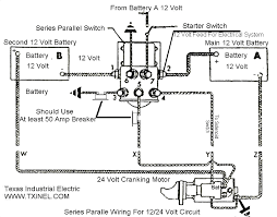 24 volt system wiring diagram can batteries be wired in series and parallel sailnet community