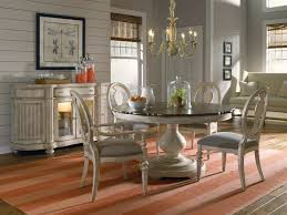 vintage round kitchen dining table with traditional chandelier light