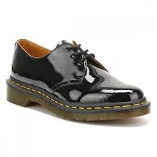 dr martens casual shoes womens 1461 patent leather patent black