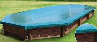 above ground pool covers. Winter Swimming Pool Cover / Grommeted For Above-ground Pools - WALU WOOD Above Ground Covers T