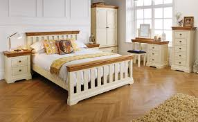 farmhouse country oak cream painted 5 foot king size bed free delivery top furniture