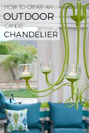 diy outdoor chandelier how to make a candle within plan 12