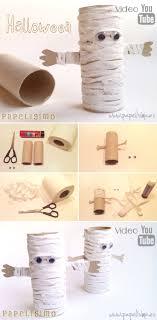 manualidades faciles nios como hacer momia papel halloween DIY paper mummy  pasos