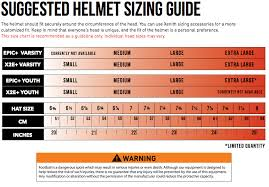 Riddell Helmet Fitting Chart Helmt Xenith Epic Shop Sport House