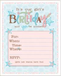 free printable birthday party invitations for girls picture luxury free printable girl birthday party invitations