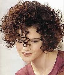 brown short hairstyle for thick curly frizzy hair