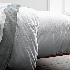 400 thread count organic diamond stripe sateen duvet cover shams white west elm