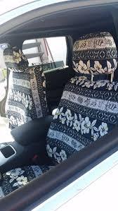 2016 jeep cherokee front driver oahu black hawaiian print seat cover