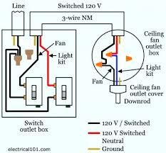 wiring fan and light separately wiring a ceiling fan with light with two switches full size