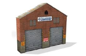 scale model railroad industrial buildings to position against your background scenery