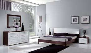 ESF Luxury Contemporary Bedroom Set in White & Wenge Queen Bed 3Pcs