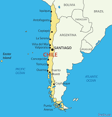 chile map  blank political chile map with cities