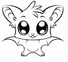 Small Picture Big Eye Bat Free Coloring Page Animals Halloween Kids Coloring