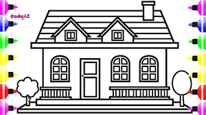 House Drawing And Colouring Pages For Kids Best Colouring Page For