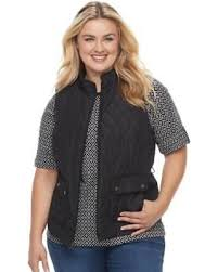 Find the Best Deals on Plus Size Croft & Barrow® Quilted Vest ... & Plus Size Croft & Barrow® Quilted Vest, Women's, Size: 3XL, Black Adamdwight.com