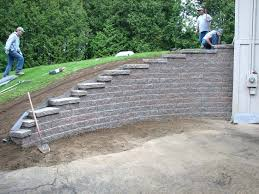 retaining wall on a slope a retaining wall features and nuances of construction build retaining wall
