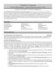 Real Estate Developer Resume Sample Estate Manager Resume Resume