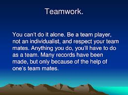 best teamwork quotes sayings be a team player not