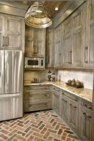 rustic grey kitchen cabinets like the and pulls gray stain