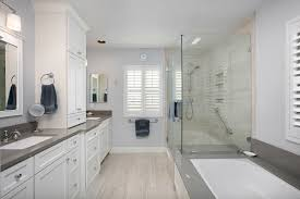 bathroom remodeling san diego. Transitional Bathroom With White Cabinetry And Grey Walls Remodeling San Diego G