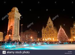 tree lighting ceremony in clinton square syracuse new york