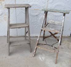 supreme steps then small step rustic wooden ladders in wooden step ladder