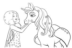 Dibujo Para Colorear Mia And Me Mo Yuko Onchao Sketch Coloring Page