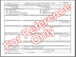 Car Corrective Action Request Template