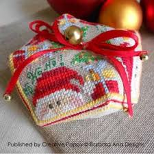 Free Biscornu Charts Christmas Biscornu Cross Stitch Pattern By Barbara Ana Designs