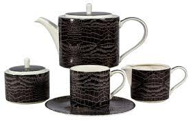 "<b>Набор 6 чайных пар</b> 260мл ""Саби черный"" - Саби черный - Роял ..."