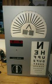 Eye Chart Machine Vintage Eye Test Chart Machine Used Test Chart Box